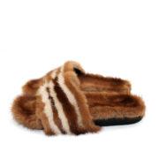 scarpe musqué con pelo marrone