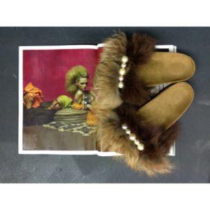 BRK Furry Brown/Beige/Pearls