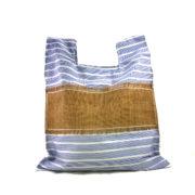 borsa in tela blu pop dietro